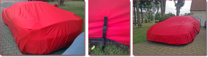 Custom made totally waterproof outdoor Ferrari covers