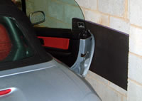Cushioned car door protection